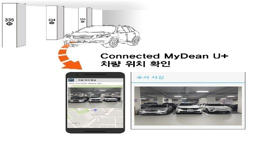'커넥티드 마이딘 U+ LTE' 블랙박스는 주차 위치와 차량 전반 영상을 커넥티드 앱으로 전송한다/사진제공=씨앤에스링크
