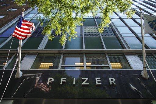미국 뉴욕 맨해튼에 있는 화이자 본사/사진=AFP