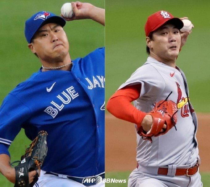 류현진(왼쪽)과 김광현. /AFPBBNews=뉴스1