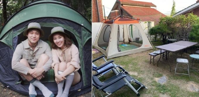 마당캠핑·홈캉스·베개 수영장…'집콕 여행' 인기