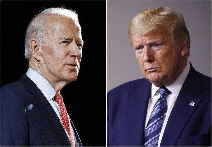 올 11월 미국 대선에서 맞붙을 조 바이든 전 부통령(왼쪽)과 도널드 트럼프 대통령