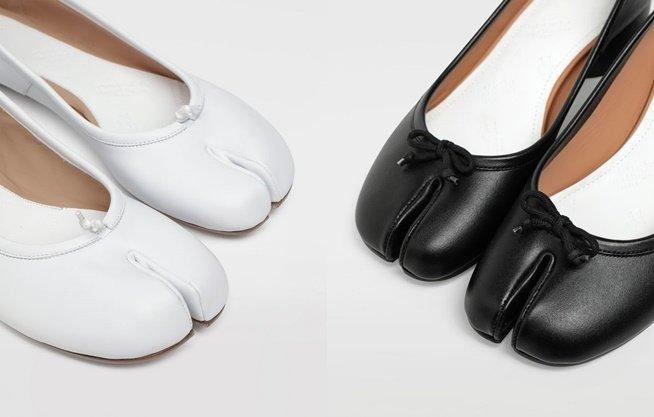 메종 마르지엘라의 '타비 슈즈' 발레리나 플랫 신발/사진=메종 마르지엘라 공식 온라인 부티크