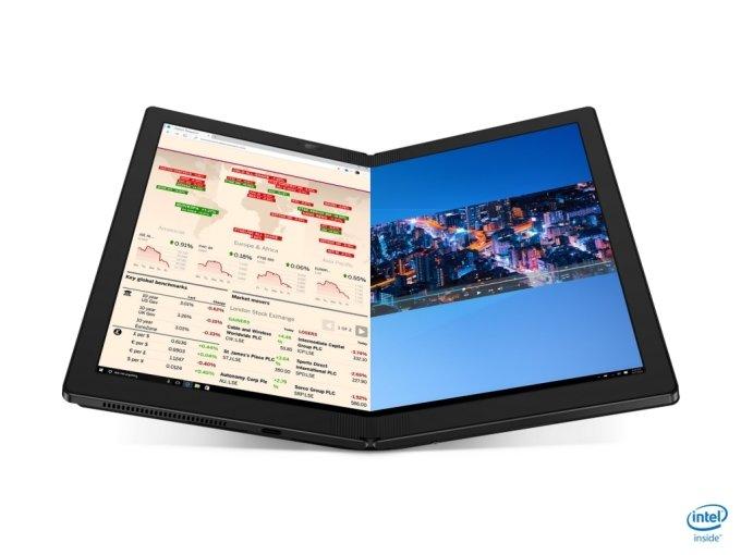 세계 최초 접이식 노트북 '씽크패드 X1 폴드' /사진=레노버