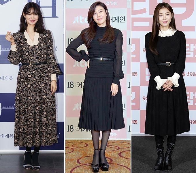 배우 신민아, 김하늘, 하지원/사진=메가박스중앙㈜플러스엠, JTBC, CJ엔터테인먼트