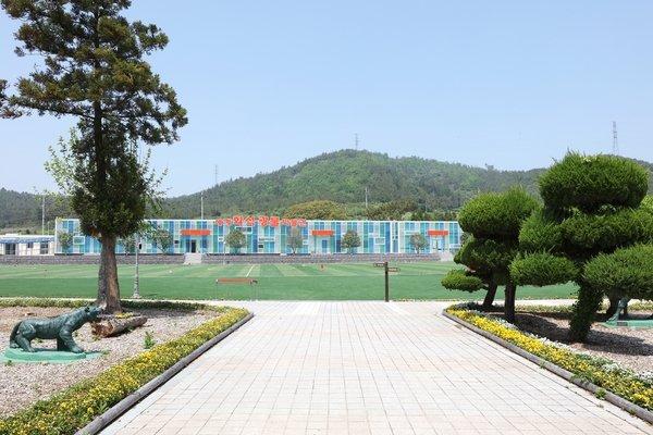 지난해 7월 개장한 신안군 안좌도 세계화석광물박물관. 2009년 폐교한 안창초등학교를 리모델링했다. /사진제공=신안군