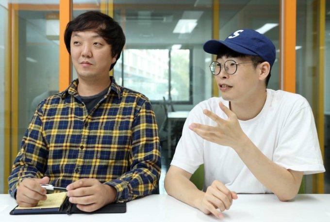 박해윤(왼쪽), 윤광열 넥스트도어 대표 인터뷰 / 사진=이기범 기자 leekb@