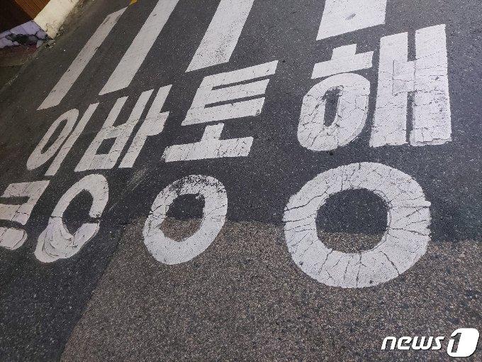 대전 서구 괴정동의 한 일방통행 도로© 뉴스1