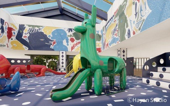 세계적 아티스트 겸 디자이너 '하이메 아욘(Jaime Hayon)'과 협업해 만든 스토리텔링형 문화·예술 공간 '모카 가든(MOKA Garden·Hyundai Museum of Kids' Books and Art Garden)'