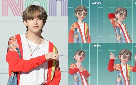 제페토는 지난달 공식 SNS를 통해 BTS 멤버 뷔의 3D 아바타를 게재했다.