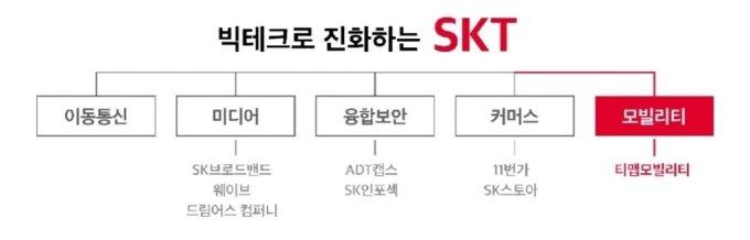 """""""통신사? 이젠 글로벌 빅테크""""…모빌리티 날개 단 SKT"""