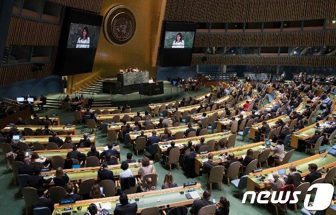 뉴욕 유엔 총회© AFP=뉴스1 © News1 우동명 기자