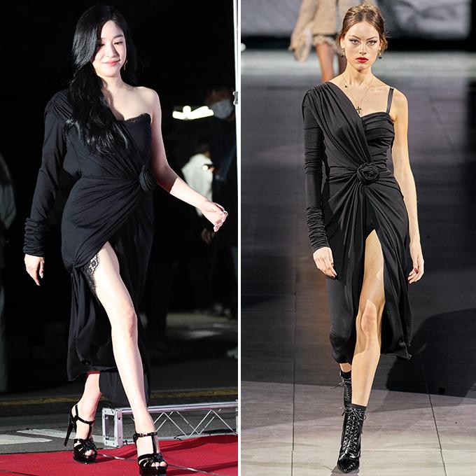 티파니 영, '390만원' 과감한 트임 드레스…