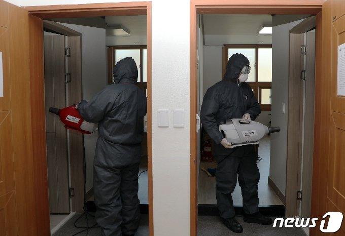 격리 해제 후 환자들이 모두 빠져나간 광주 광산구 광주소방학교. /뉴스1 DB © News1