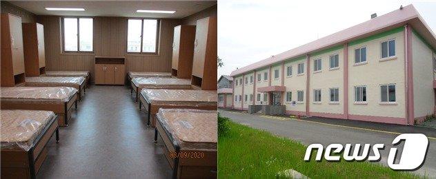 대체복무요원  교육센터 생활실(좌)과 생활관 전경.(법무부 제공) © 뉴스1