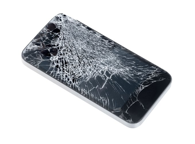 화면이 손상된 휴대전화 /사진=게티이미지뱅크