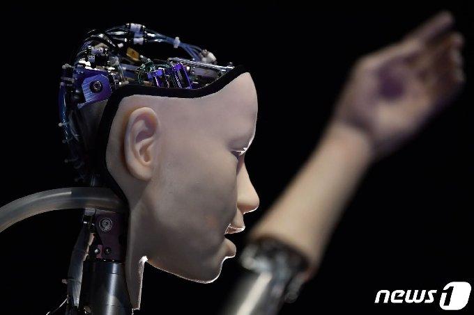 인간의 얼굴 모습을 한 인공지능 로봇/AFP=뉴스1