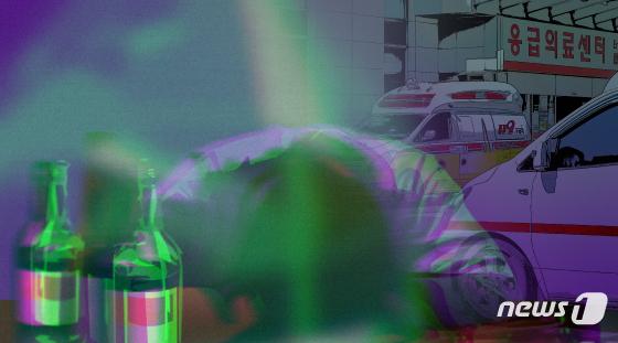 알코올중독치료기관서 만난 40대끼리 술먹다가 칼부림