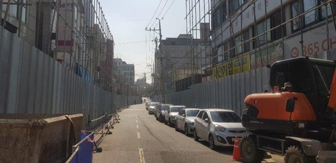 광명동 재개발 철거 구역/사진=조한송 기자