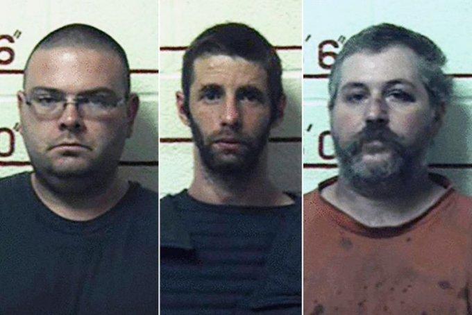 동물을 성적으로 학대한 혐의로 중형을 선고받은 미국 농부들. 왼쪽부터 매튜 브루베이커, 마크 매즈니코프, 테리 월라스, / 사진 = 미국 크리어필드 카운티 경찰 페이스북.