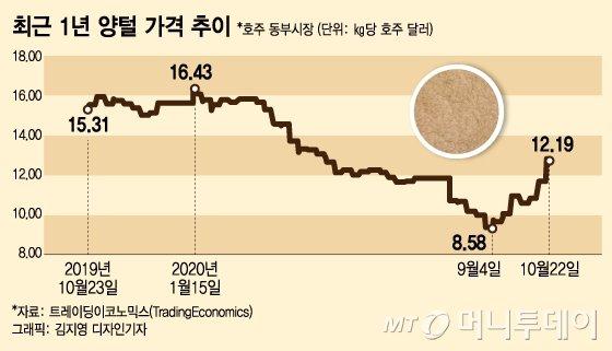 """무역보복에도 92%가 중국행…中 """"호주 양털 포기못해"""""""