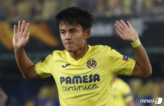 비야레알의 쿠보가 유로파리그 첫 경기에서 1골2도움으로 맹활약했다. © 로이터=뉴스1