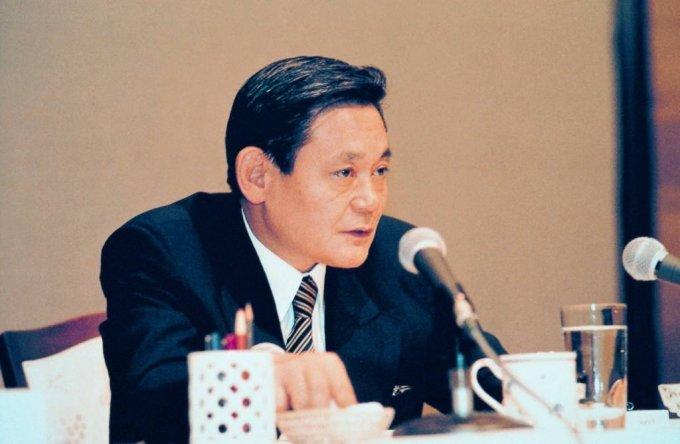 1993년 신경영 선언 당시 이건희 회장.(사진=삼성전자 제공). /사진=뉴시스