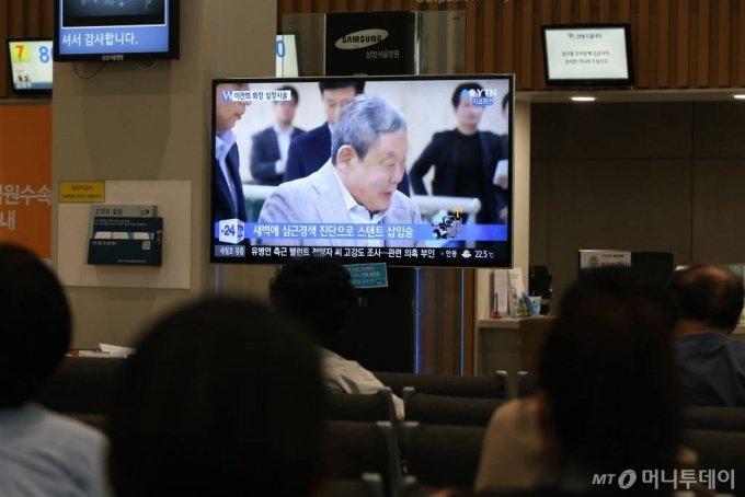 이건희 삼성그룹 회장 입원 당시./ 사진=이기범 기자 leekb@
