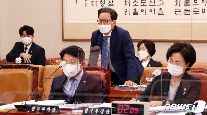 심재철 법무부 검찰국장. 2020.10.12/뉴스1 © News1 신웅수 기자