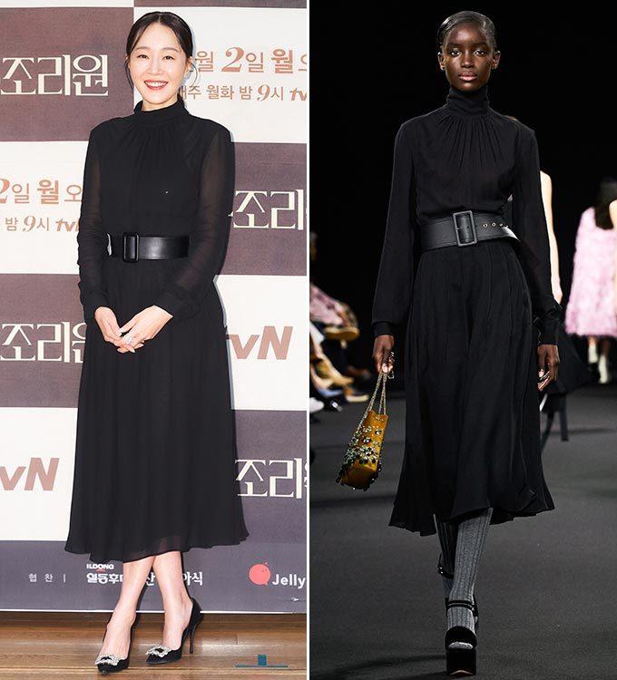 배우 엄지원, 로샤스 2020 F/W 컬렉션/사진=CJ ENM 로샤스