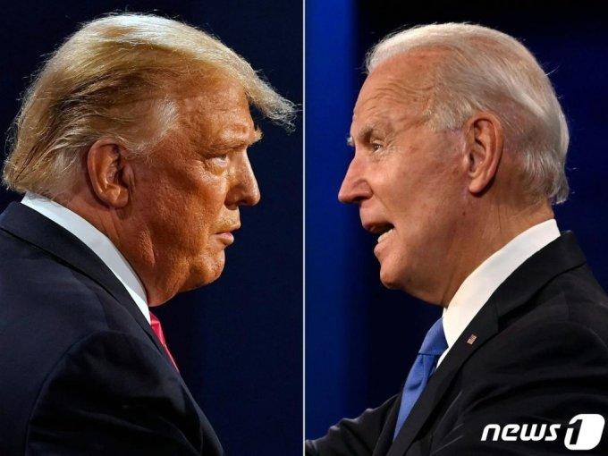 (AFP=뉴스1) = 도널드 트럼프 미국 대통령(왼쪽)과 조 바이든 민주당 대선후보.  ⓒ AFP=뉴스1