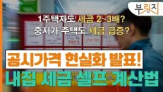 [부릿지]'공시가 현실화=세금폭탄?' 내집 보유세 셀프 계산법