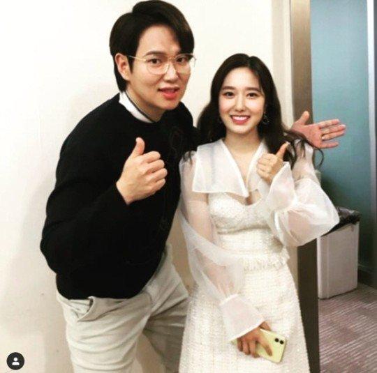 방송인 장성규(왼쪽)와 이혜성./사진=장성규 인스타그램