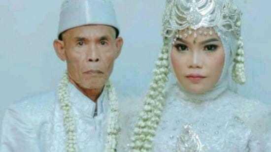 노니와 아바의 결혼식 모습./사진= Kashmir Spectator 페이스북 캡쳐