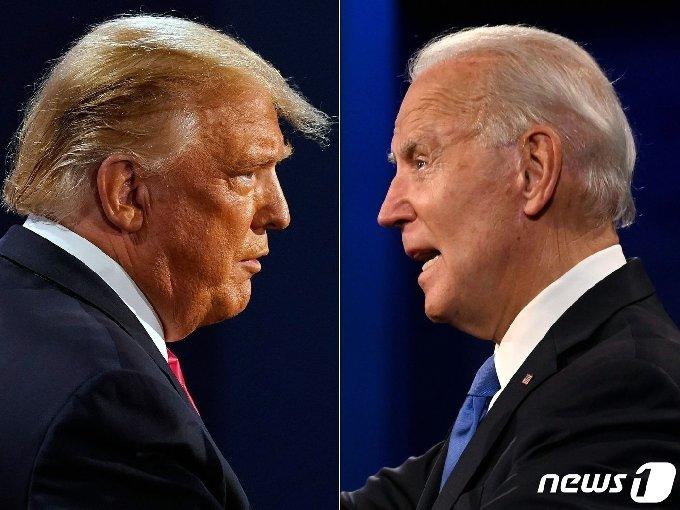 도널드 트럼프 미국 대통령(왼쪽)과 조 바이든 민주당 대선후보. © AFP=뉴스1