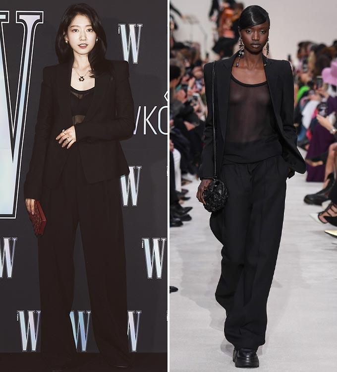 배우 박신혜, 발렌티노 2020 F/W 컬렉션/사진=더블유 코리아, 발렌티노