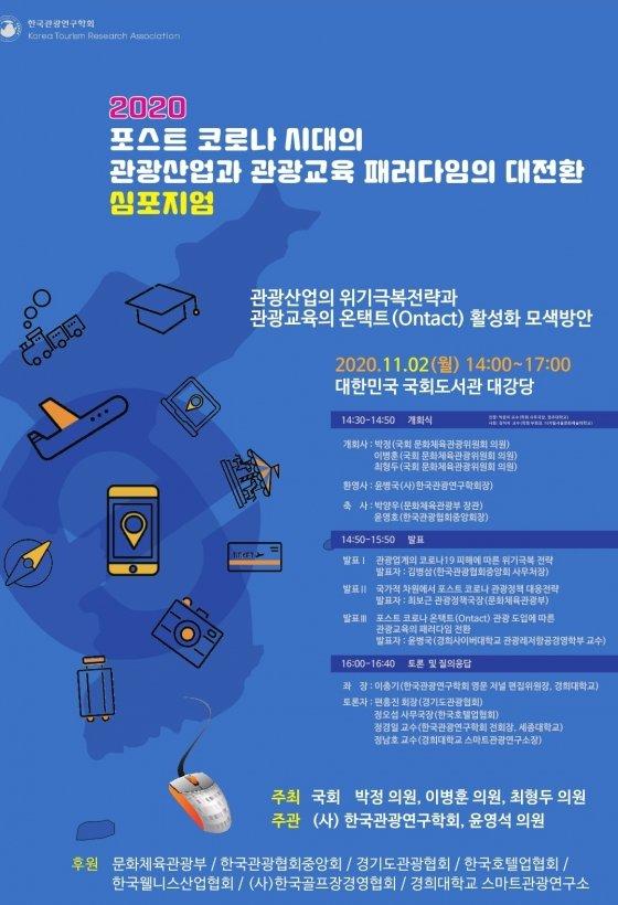 한국관광연구학회, '관광산업 패러다임 전환' 심포지엄 연다