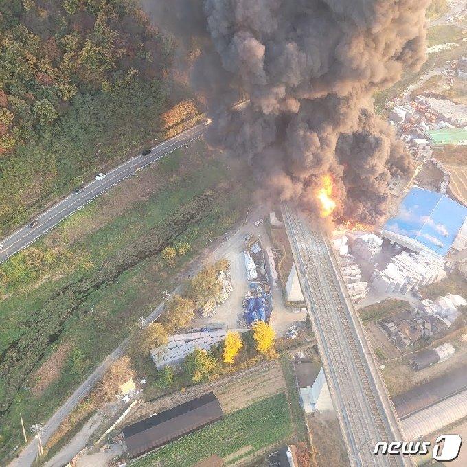 화재 현장 모습.(경기도소방재난본부 제공)© 뉴스1