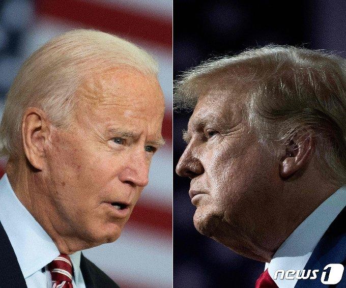 도널드 트럼프 미국 대통령(오른쪽)과 조 바이든 민주당 대선 후보. © AFP=뉴스1