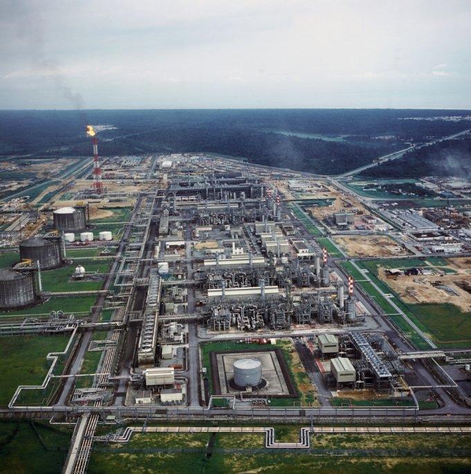 나이지리아 보니섬 LNG 플랜트 1~6호기 전경. /사진제공=대우건설