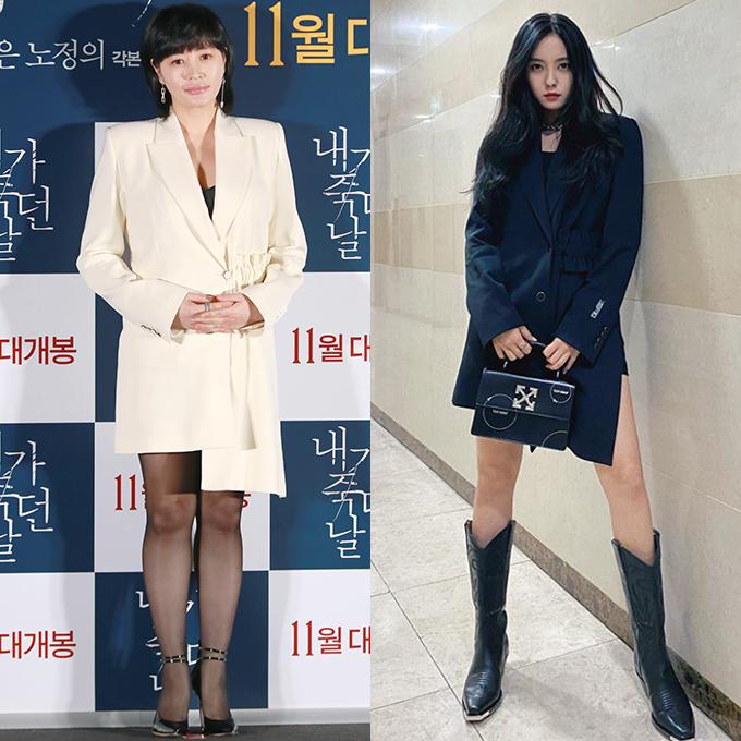 배우 김혜수, 가수 효민 /사진=머니투데이 DB, 인스타그램