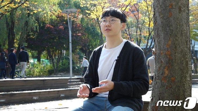 """영준씨는 """"고교 3년 동안 하루를 24시간이 아닌 27시간처럼 살았다""""고 했다. 뉴스1 © News1 김동은 기자"""