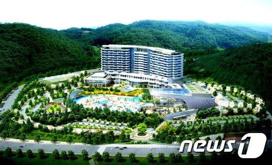 울산 북구 강동권 개발사업의 핵심사업인 '강동리조트 조성공사'가 이르면 올 연말 재개된다, © News1