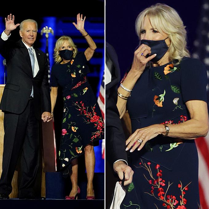 조 바이든 미국 대통령 당선인과 함께 참석한 질 바이든 여사 /사진=AFP