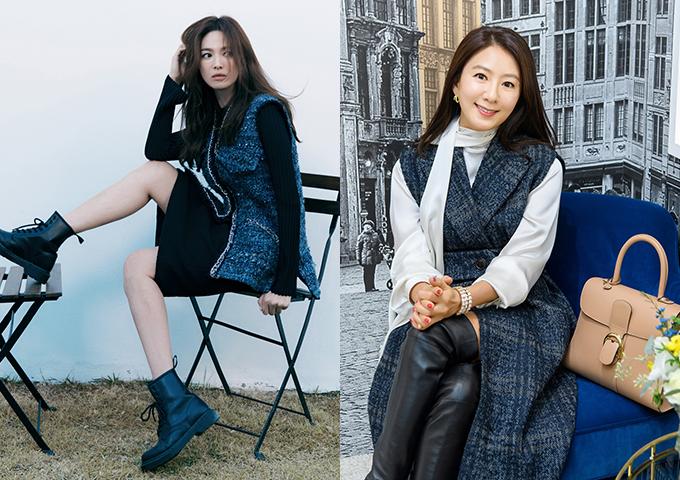 배우 송혜교, 김희애 /사진제공=미샤, 델보