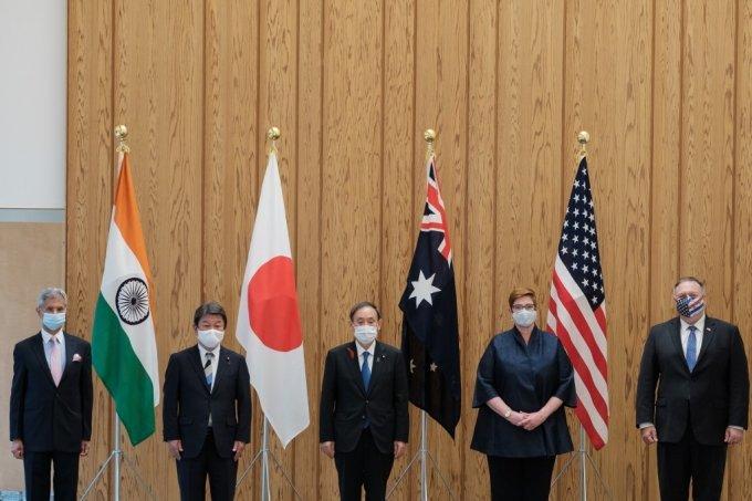 6월 10일 일본 도쿄에서 열린 쿼드 4개국 회의/사진=AFP