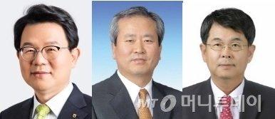 왼쪽부터 김광수 NH농협금융 회장, 신상훈 전 신한금융 사장, 김병호 전 하나금융 부회장/사진=머니투데이DB