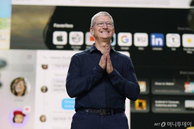 애플 팀 쿡 CEO(Brooks Kraft/Apple Inc. via AP) / 사진제공=AP 뉴시스