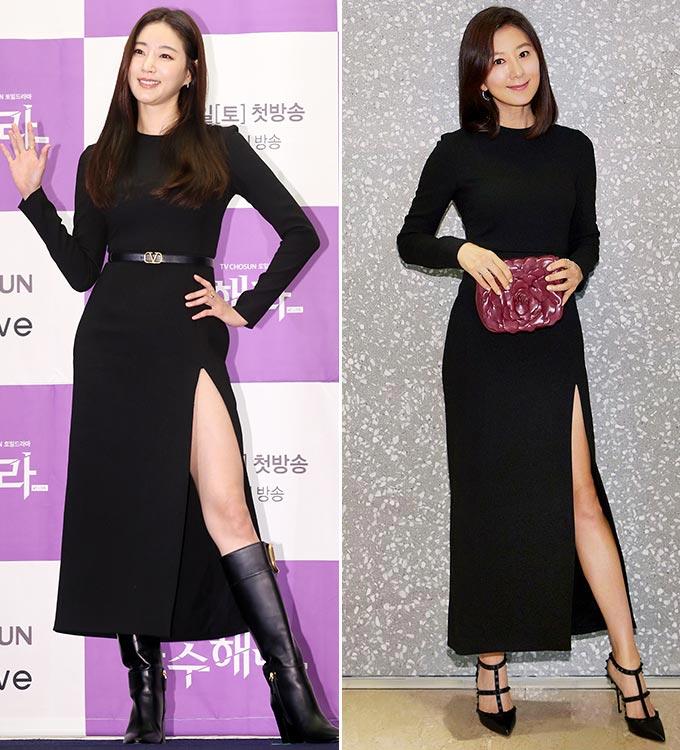 배우 김희애, 김사랑/사진=뉴스1, 발렌티노 제공