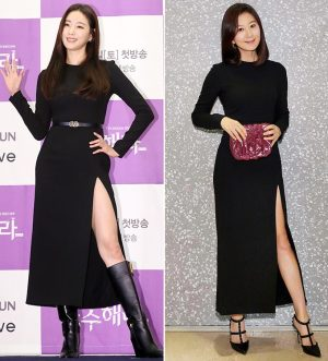 김사랑-김희애, 아찔한 옆트임 패션…