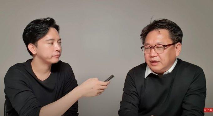 신사임당 주언규씨(왼쪽), 존리 메리츠자산운용 대표(오른쪽) 인터뷰 모습 /사진=유튜브 '신사임당' 채널 캡처